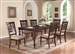 Aurora 5 Piece Dining Set in Brown Cherry Finish by Crown Mark - 2640