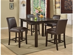 Starfire Mosaic Top 5 Piece Counter Height Dining Set in Espresso Finish by Crown Mark - 2737T