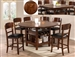 Conner 5 Piece Counter Height Dining Set in Acacia Finish by Crown Mark - 2859