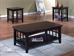Camino 3 Piece Occasional Table Set in Brown Finish by Crown Mark - 4155