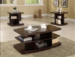 Ella 3 Piece Occasional Table Set in Cappuccino Finish by Crown Mark - 4168