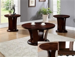 Daria 3 Piece Occasional Table Set in Espresso Finish by Crown Mark - 4234
