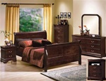 Louis Philip 4 Piece Youth Bedroom Suite in Distressed Dark Cherry Finish by Crown Mark - B3770T