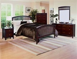 Lawson Slatted Bed 4 Piece Youth Bedroom Set in Cappuccino Finish by Crown Mark - B7550-T