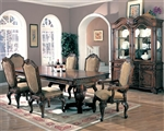 Saint Charles 7 Piece Dining Set in Brown Finish by Coaster - 100131
