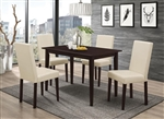 Cappuccino Finish 5 Piece Dining Table Set by Coaster -100491