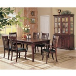 Newhouse 7 Piece Dining Set in Cherry Finish by Coaster - 100500
