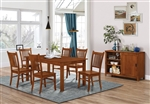 Marbrisa 7 Piece Dining Set in Medium Brown Finish by Coaster - 100621