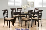 7 Piece Dining Set with Oval Table Top and in Rich Cappuccino Finish by Coaster - 100770