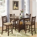 Lavon 5 Piece Counter Height Dining Set in Cherry Finish by Coaster - 100888N