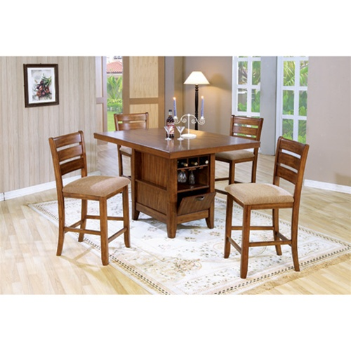 counter height 5 dining table kitchen island set
