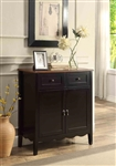 Accent Wine Cabinet in Black Finish by Coaster - 101047