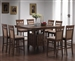 9 Piece Counter Height Table Set in Walnut Finish by Coaster - 101438