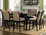 Rich Cappuccino Counter Height 9 Piece Dining Set by Coaster - 101828