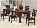 Imperial 7 piece Dining Set in Antique Brown Finish by Coaster - 101881