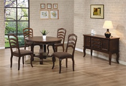 Marcus 5 Piece Dining Set in Medium Brown Oak Finish by Coaster - 102141