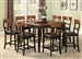 Franklin 7 Pc Counter Height Dining Set in Oak and Brown Finish by Coaster - 102198