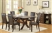 Dobson 7 Pc X Base Dining Table Set in Deep Oak Finish by Coaster - 102501