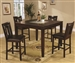 Ervin 5 Piece Counter Height Dining Set in Deep Espresso Finish by Coaster - 102528