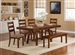 Ethan 6 Pc Dining Set in Rustic Oak Finish by Coaster - 102931