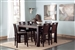 Prewitt 7 Pc Counter Height Dining Set in Espresso Finish by Coaster - 102948