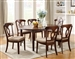 Liam 5 Pc Space Saver Dining Set in Cherry Finish by Coaster - 102991