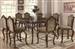 Andrea 5 Piece Counter Height Dining Set in Brown Cherry Finish by Coaster - 103118