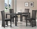 Hayden 5 Pc Dining Set in Rich Cappuccino Finish by Coaster - 103231