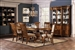 Saphrina 7 Pc Double Pedestal Dining Table Set in Rich Brown Finish by Coaster - 103331