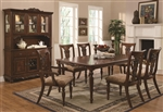 Addison 7 Pc Dining Table Set in Cherry Finish by Coaster - 103511