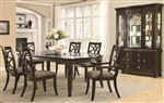 Meredith 7 Pc Dining Table Set in Espresso Finish by Coaster - 103531