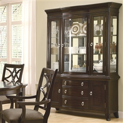 Meredith Buffet & Hutch in Espresso Finish by Coaster - 103534