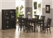 Marbrisa 7 Piece Dining Set in Rich Cappuccino Finish by Coaster - 103551