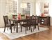 Rivera 7 Pc Dining Table Set in Dark Merlot Finish by Coaster - 103641