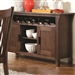 Rivera Server in Dark Merlot Finish by Coaster - 103645
