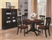Cameron 5 Pc Cottage Round Pedestal Table Set in Black & Dark Cherry Finish by Coaster - 103700