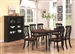 Cameron 7 Pc Cottage Oval Leg Table Set in Black & Dark Cherry Finish by Coaster - 103701