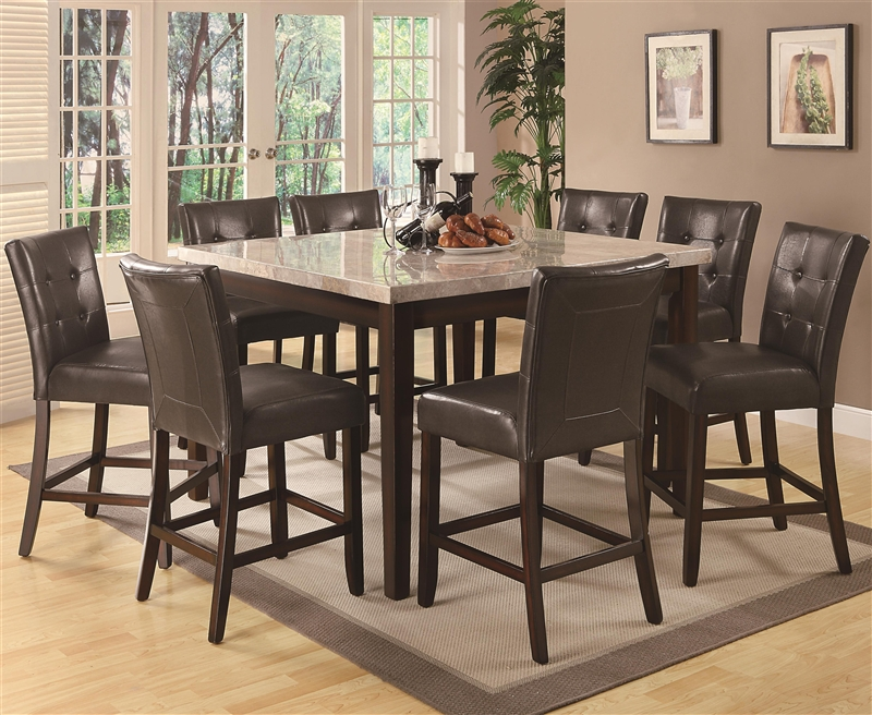 Milton 5 Piece Counter Height Dining Set in Cappuccino  : COA 103778 2 from www.homecinemacenter.com size 800 x 656 jpeg 430kB
