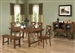 Lawson 6 Piece Dining Set in Rustic Oak Finish by Coaster - 103991