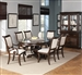 Harris 7 Piece Dining Set in Rich Cherry Finish by Coaster - 104111
