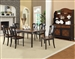 Connor 7 Piece Dining Set in Two Tone Tobacco and Black Finish by Coaster - 104191