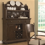 Camilla Buffet & Hutch in Brown Cherry Finish by Coaster - 104574