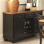 Charlotte Server in Rustic Amber/Black Two Tone Finish by Coaster - 104615