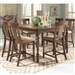 Jonas 5 Piece Counter Height Dining Set in Rustic Brown Finish by Coaster - 104728