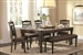Mulligan 5 Piece Dining Table Set in Latte/Espresso Finish by Coaster - 104781