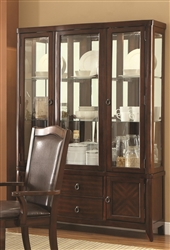 Louanna Buffet with Hutch in Espresso Finish by Coaster - 104844