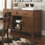 Avalon Server in Dark Amber and Coffee Bean Finish by Coaster - 105015