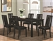 Black Finish 5 Piece Dining Set by Coaster - 105021