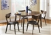 Malone 5 Piece Dining Table Set in Walnut Finish by Coaster - 105361