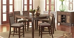 Brown Finish 5 Piece Counter Height Dining Set by Coaster - 105498